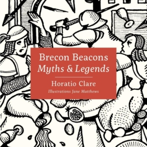 The front cover of the book; 'Myths & Legends of the Brecon Beacons